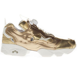Reebok Women's Gold Instapump Fury Celebrate Trainers All Sizes