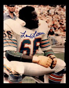 Larry Little Hand Signed 8x10 Photo Autograph Dolphins