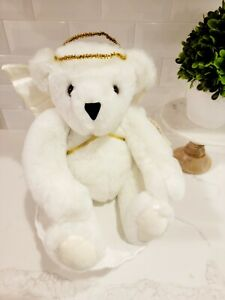 """VINTAGE 1987 Vermont Teddy Bear Angel Plush • Rare HTF 14"""" • Jointed Arms/Legs"""