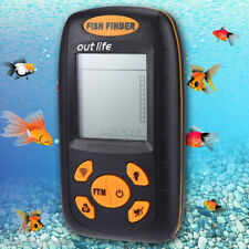 Outlife Wired Fish Finder Portable Sonar Echo Sounder Backlight Green LCD 100M