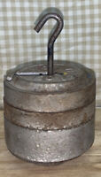 """Vintage 4 Pc Cast Iron Scale Weights 1 1/2 Lb. / 2 - 3/4"""" Lb. With Hook MINN 56"""