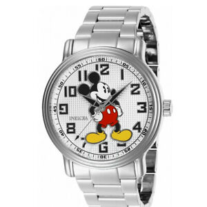 Invicta Disney Limited Edition Mickey Mouse White Dial Men's Watch 27392
