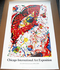 Chicago International Art Exposition-10th Anniversary 1980-1989 by Sam Francis