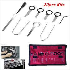 Universal 20pcs voiture radio stéréo lecteur cd removal outil clé kit en acier inoxydable