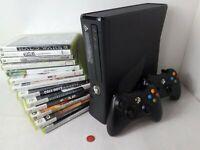 Xbox 360 Slim Console 1-2 Controller 0-10 Games 4 250 GB