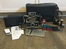 Vintage Polaroid 450 Land Camera With Accessories Manual Film Included Untested