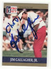 JIM GALLAGHER JR PERSONALIZED AUTOGRAPHED GOLF CARD