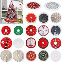 Christmas Tree Plush Velvet Tree Skirt Base Floor Cover Decor Home Mat Carpet