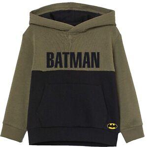 Batman Hoodie Kids Boys Hooded Long Sleeve Jumper Sweatshirt - Official Merch
