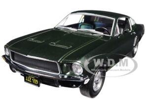 """Box Damaged 1968 FORD MUSTANG GT FASTBACK """"BULLITT"""" GREEN 1/24 GREENLIGHT 84041"""