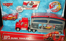 Mattel Disney Pixar Cars Mack Dip & Dunk Trailer Truck with Color Change Mcqueen
