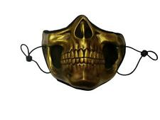 Higgs Masque De Mort Stranding Cosplay Masque Visage 3D Réutilisable Or Crâne