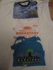 Preowned Lot of Three Half Marathon & Marathon Shirts - Maine, Dublin & Key West