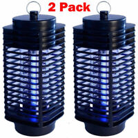 2 Pack Electric Mosquito Fly Bug Insect Zapper Killer Trap Lamp Stinger Pest HOT