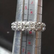 Rhodium Plated Band Ring Size L Xl487A Art Deco 15 Carat White Gold Spinel Set