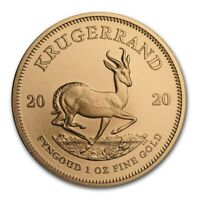 CH/GEM BU 1 OZ. 2020 Gold South African Krugerrand Coin 1 Ounce of Gold