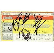SOiL Concert Ticket Stub COLUMBUS OHIO 1/5/02 NEWPORT BAND AUTOGRAPH SCARS TOUR