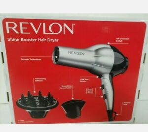 Revlon Frizz Fighter Shine Booster Hair Dryer~New in Box~Diffuser Included~