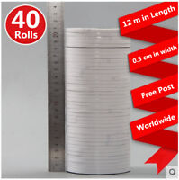 DOUBLE SIDED CLEAR STICKY TAPE DIY STRONG CRAFT ADHESIVE 3MM 5MM 24MM 30MM 50MM