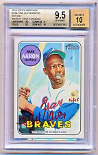 2018 Topps Heritage Hank Aaron Real One Red Ink Auto (16/25) BGS 9.5/10 - POP 1