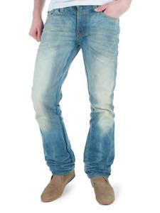 Nudie Herren Regular Slim Jim Straight Fit Jeans - Crispy Worn In - W31 L34
