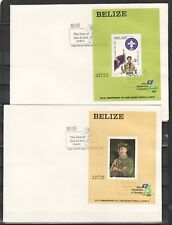 Belize, Scott cat. 644-645. Scouting Anniversary on 2 Plain First day covers.