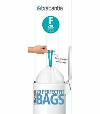 BRABANTIA Perfect Fit Bin Bags/Liners (SIZE F, 20L slim) Extra Strong Pack of 20