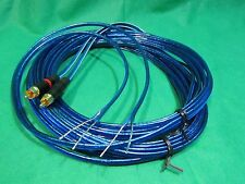 L/R AMP Receiver  REAN Neutrik Gold RCA to Powered Speakers wire Adapter, 30 ft.