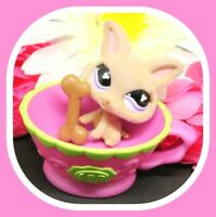 ❤️Authentic Littlest Pet Shop LPS #461 FUZZY Chihuahua Puppy DOG TEACUP Bone❤️