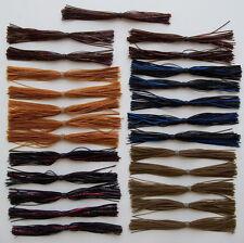 25 Custom Made Silicone Bass Jig Skirts-(#2 Assortment)-Bass Fishing-Fishing-NEW