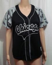 Chicago White Sox Womens Button Front Jersey by Campus Lifestyle - Size Medium