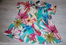 OPHILIA: ausgefallenes Tunika Shirt Kurzarm mehrf. Viskose Jersey Gr. 52 54 %%%%