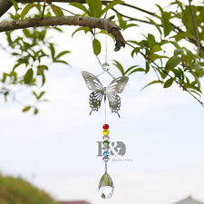 H&D 38mm Hanging Suncatcher Butterfly Crystal Pendant Window Healing Decor Gift