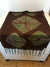 NEW BNWOT RRP:£19.95 Brown & Green Tie Dye Silky Feel Large Scarf - Hippy Boho