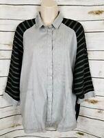Alembika Navy Blue Boxy Top Flannel Back Lagenlook 1