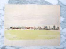 René Thomsen aquarelle la champêtre de Mereau département du Cher