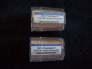 2007 P&D Washington Presidential Dollar Rolls, Certified FDOI & Gem BU by PCGS!!