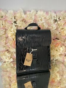 Dr Martens Leather Mini Zebra Animal Pirnt Emboss Bag Backpack RARE Discontinued