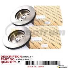 06-16 LEXUS 06-16 IS250/350 OEM 43512-30310 FRONT BRAKE ROTOR DISC PAIR SET