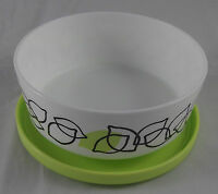 Tupperware Iluminas Klick und Stapel Dose 350 ml Zitronen Weiß Hellgrün Neu OVP