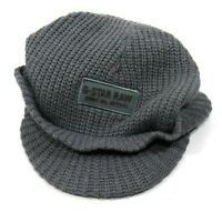 G-STAR RAW Vintage Mens Knit Cap Beanie Charcoal Gray One Size
