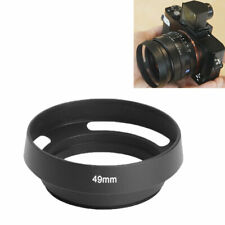 New 49mm Vented Curved Metal lens Hood For Leica Canon Nikon Panasonic High N0K2