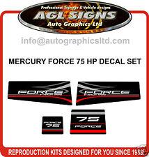 MERCURY MARINE FORCE 75 HP DECAL KIT (90's), sticker graphic