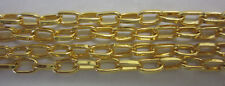 1 Metre Chain Straight Oval Link Bright Gold 7x4mm for Jewellery Making TAR274