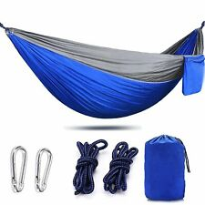 Portable Single Outdoor Camping Hammock Chair Nylon Hanging Bed Swing 86' X 35'