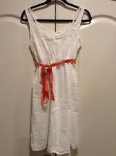 Motherhood Maternity Size Medium White And Coral Dress