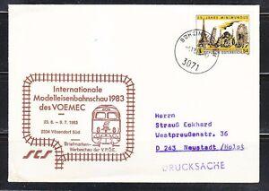Austria 1983 special cover Modelleisenbahnschau meeting Railway simulator