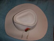 Vintage Stetson Made for Sheplers World's Largest Western Store Tan Size 6 7/8
