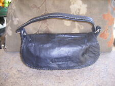Black Leather Shoulder Bag by Sisley