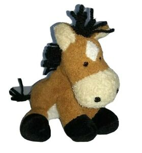 "Russ Chamois Horse Pony Oats 5"" Mini Beanbag Floppy Soother Therapy"